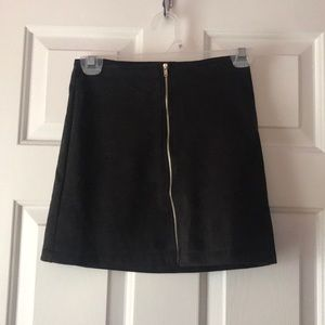 Faux suede black skirt